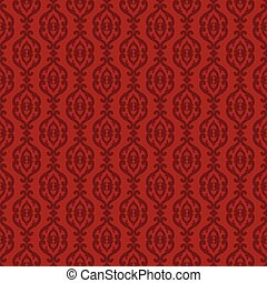 Elegant classic barocco seamless pattern. Red and burgundy.