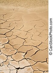 wet desert ground - desert of Bardenas Reales at navarra in...