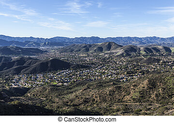 Thousand Oaks California Mountain Top View - Mountain top...