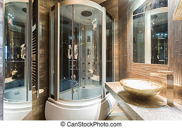 Interior of expensive bathroom