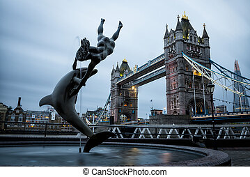 London Tower Bridge across the River Thames - London Tower...