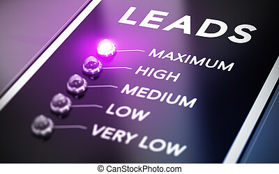 Lead Generation - Lead generation concept, Illustration of...