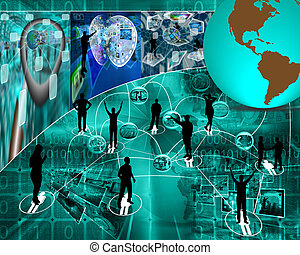 communication people - Many abstract images on the theme of...