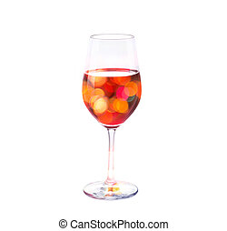 vibrant bokeh in wine glass, colorful concept