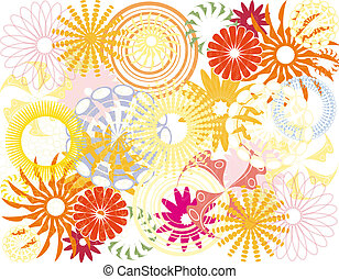 Color floral background
