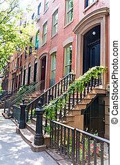 West Village in New York Manhattan buildings - West Village...