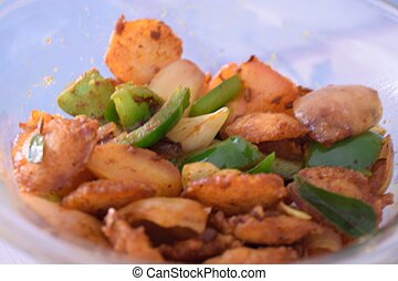 fried idly with vegetables