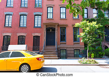 West Village in New York Manhattan buildings - West Village...