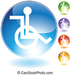 Handicap Icon isolated image on a white background.