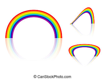 rainbow angle - Abstract collection of three bright...