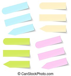 Collection of colored note memo blank