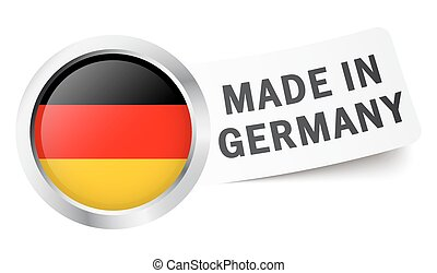 "Button with flag "" MADE IN GERMANY """