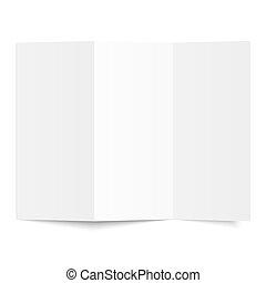 Brochure - Blank sheet of white paper - folded
