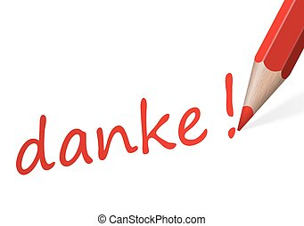 "Pen with text "" danke! """