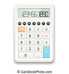 Calculator white