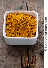 curry powder mixture of spices and dried herbs