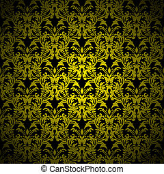 floral gothic gold