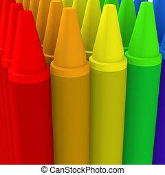 Multicolor crayon image 2 - 3d computer generated