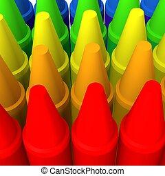 Multicolor crayon image 3 - 3d computer generated
