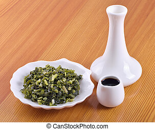Salty ramsons Allium ursinum -tasty appetizer Siberian