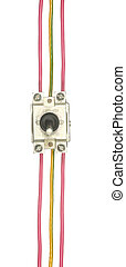Industrial electrical switch with multi-colored wires isolated o