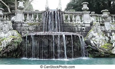 The Giants Fountain In Villa Lante - Video clip of the...