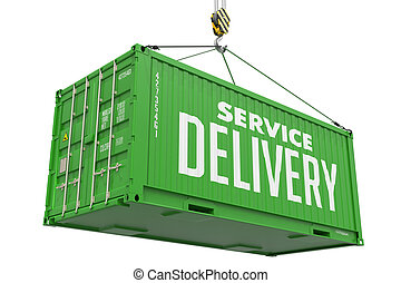 Service Delivery - Green Hanging Cargo Container. - Service...