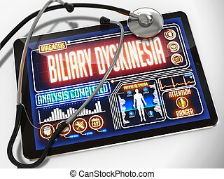 Biliary Dyskinesia on the Display of Medical Tablet. -...