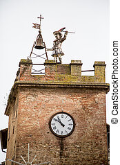 Clock-tower in Montepulciano, Tuscany