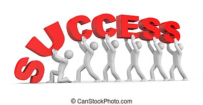 Success concept Isolated on white