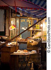 chinese food stall - View of a chinese food stall in...