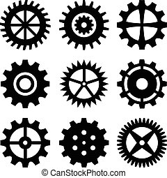 Gear wheels isolated on white background