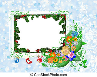 Card for the Winter holiday