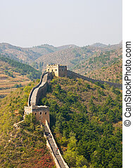 great wall of china - watchtowers on the great wall of china