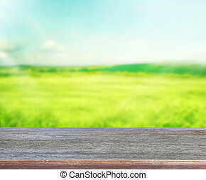 Table Top And Blur Nature Background - Table Top And Blur...
