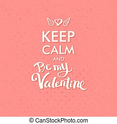 Valentine Concept on Abstract Pink Background - Simple...