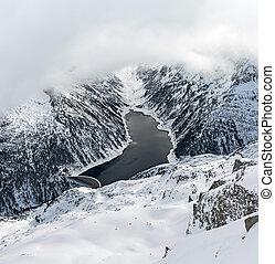 Ski resort Zillertal - Tirol, Austria - The scenery of the...