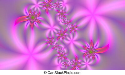 Flowers of dreams - On a gentle lilac background beautiful...