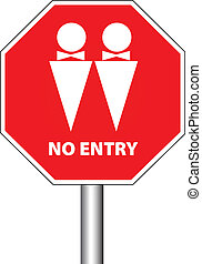 no entry for gays - no entry for homosexuals