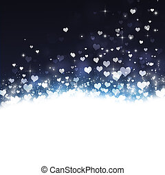 Holiday Lovely Hearts Background
