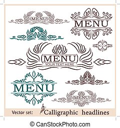 Vector set of vintage design elements.