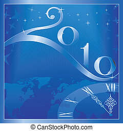 Merry Christmas and Happy New Year 2010! - Blue \'Happy New...