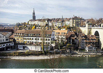 Bern Cityscape - The picturesque city of Bern as viewed from...