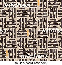 kitchen pattern. vector illustratio