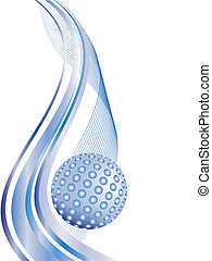 technology background - vector illustration of a sphere and...