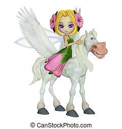 little fairy - 3d illustration for children