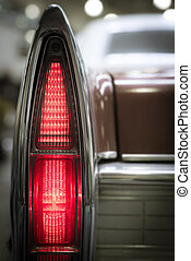 Rear vintage tail light.