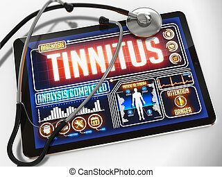 Tinnitus on the Display of Medical Tablet. - Tinnitus -...