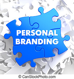 Personal Branding on Blue Puzzle. - Personal Branding on...