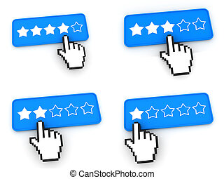 Ranking Concept - Web Buttons with Hand Cursor - Ranking...